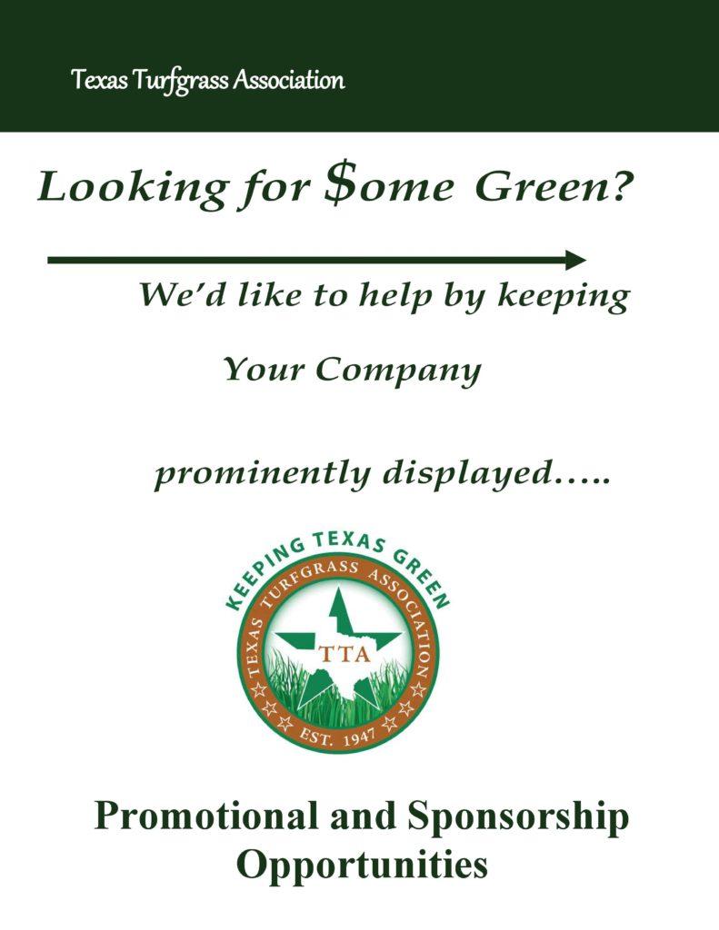 2018 Sponsorship Packages | Texas Turfgrass Association